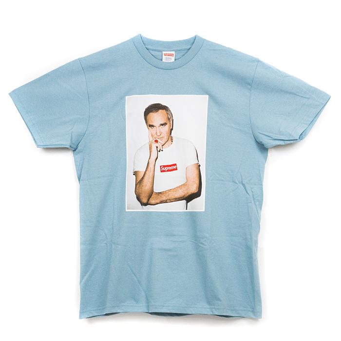 有Supreme/shupurimu Morrissey Tee/morisshi T恤Light blue/淡蓝色淡蓝色16SS国内正规的物品标签新古董