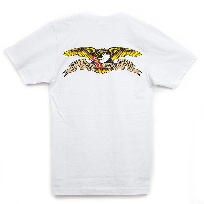 Supreme x ANTIHERO / シュプリーム × アンタイ ヒーローPocket Tee / ポケット TシャツWhite / ホワイト 白16SS 正規品 新古品【中古】