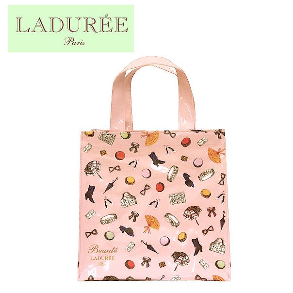 clair et distinctif plus grand choix comment commander LADUREE vinyl tote bag Petits Accessoires (S) ROSE [fs04gm]