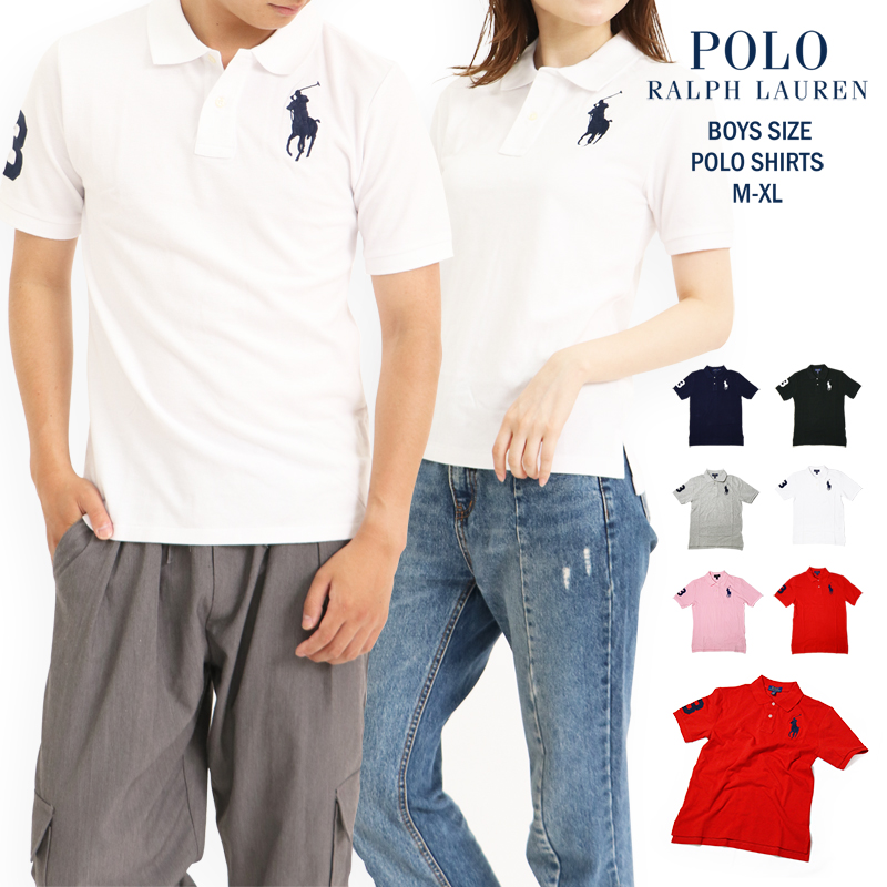 Ralph Lauren polo shirt Boys big pony RALPH LAUREN 323670257 323690068  323694738 polo Lady\u0027s men unisex ...