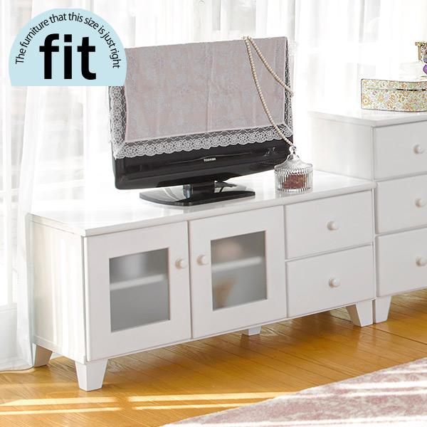 【完成品】 テレビ台 白 ホワイト【-fit-フィット】(TV台 ローボード AVボード ロータイプ 木製 おしゃれ シンプル 新生活 白家具)