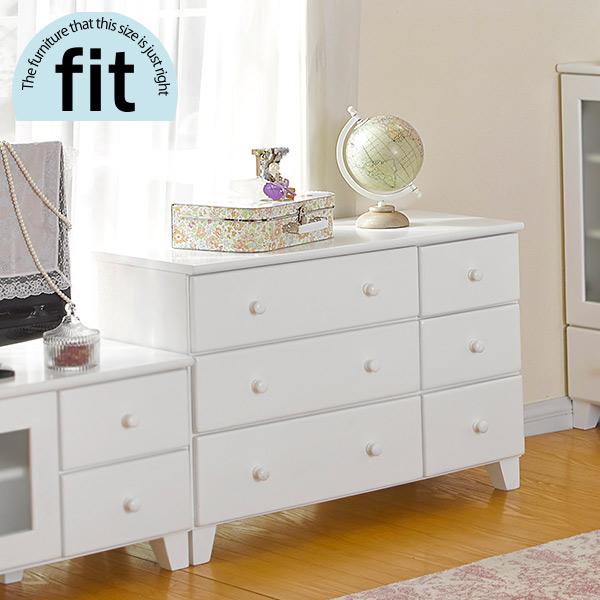 【完成品】 ローチェスト 白 ホワイト【-fit-フィット】(木製 リビング 収納棚 収納家具 リビング収納 おしゃれ シンプル 新生活 白家具)