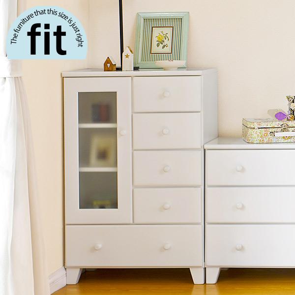 【完成品】 キャビネット 白 ホワイト【-fit-フィット】(リビング キャビネット 収納棚 収納家具 木製 リビング収納 おしゃれ シンプル 新生活 白家具)