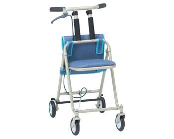 【受注生産】介助タイプ コンパクト歩行補助器 MV-10 松永製作所歩行補助 椅子付き 収納バッグ付 歩行器 介護用品
