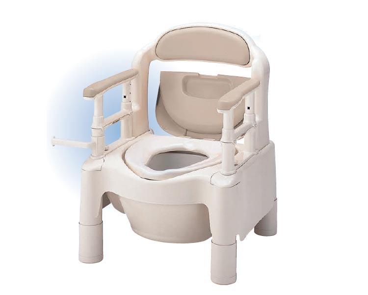 安寿 ポータブルトイレ ちびくまくん FX-CP 標準タイプ 533-550 ベージュ アロン化成送料無料 介護用品 樹脂製ポータブルトイレ 小型 コンパクト 福祉用具 高齢者 あす楽