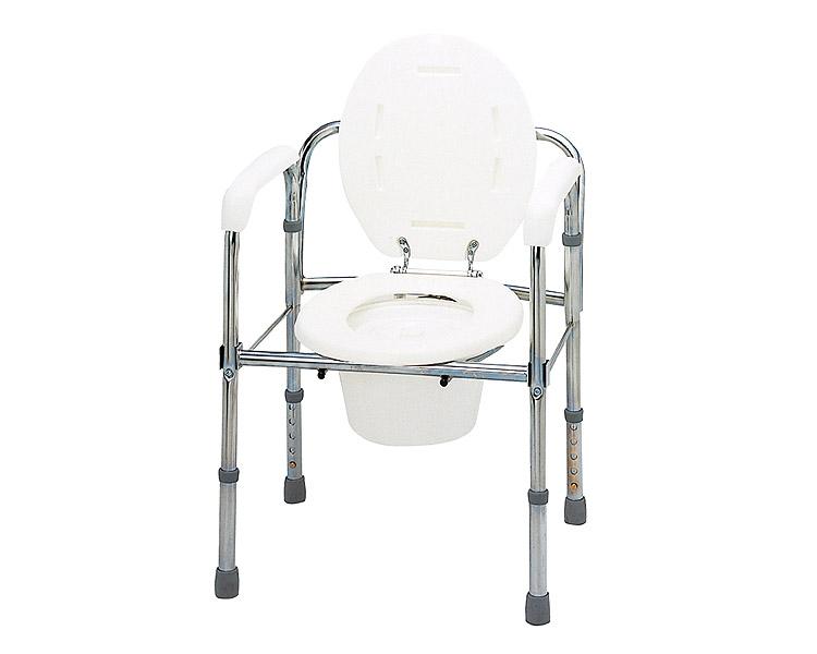 ポータブルトイレ ▲トイレチェア 折りたたみタイプ(スチール製) T-8303 テツコーポレーション送料無料 ポータブルトイレ 介護用品 トイレ