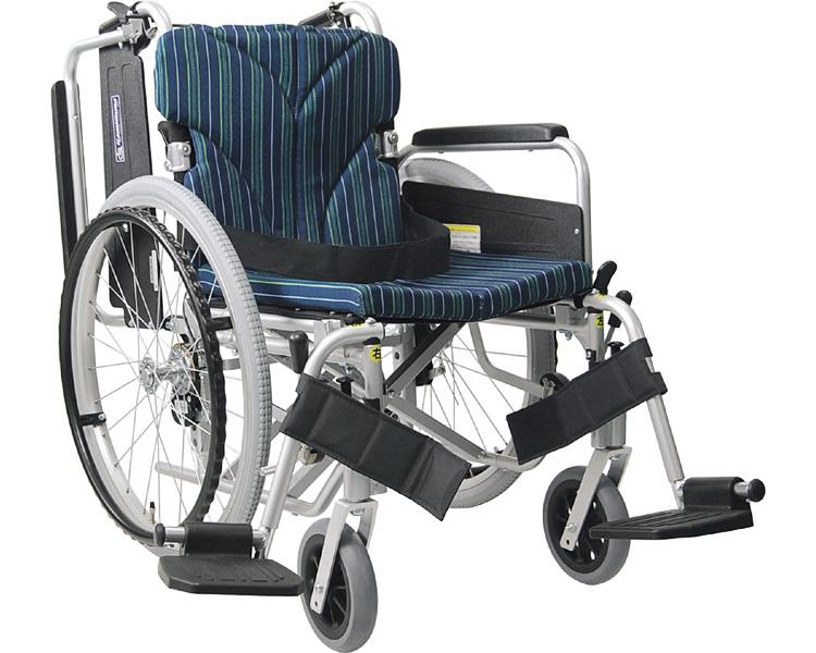 アルミフレーム自走用車椅子(簡易モジュール) KA822-38・40・42B-H カワムラサイクル 【smtb-kd】【介護用品】【自走式車いす/車イス】【歩行補助】
