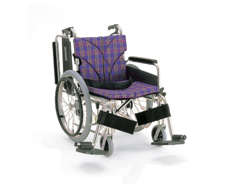 アルミフレーム自走用車椅子(簡易モジュール) KA820-38・40・42B-SL カワムラサイクル自走式車いす 車イス 介護用品 福祉用具