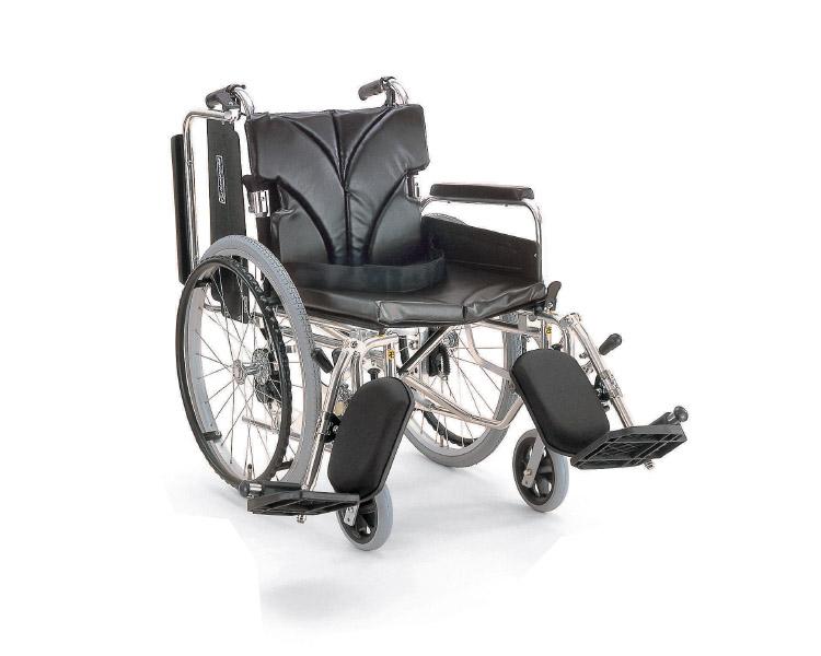 ▲アルミフレーム自走用車椅子(簡易モジュール) KA822-38・40・42ELB-H カワムラサイクル介護用品 自走式車いす 車イス 歩行補助