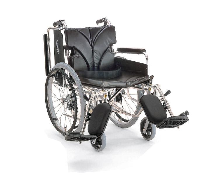 ▲アルミフレーム自走用車椅子(簡易モジュール) KA820-38・40・42ELB-M カワムラサイクル介護用品 自走式車いす 車イス 歩行補助