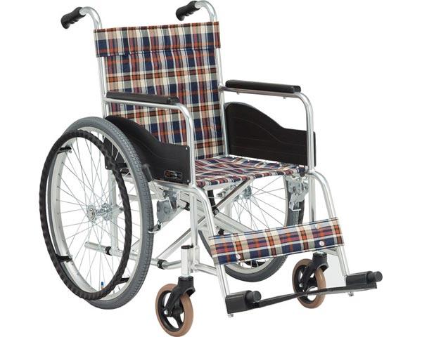 車椅子 軽量 折り畳み アルミ自走式車椅子 AR-101(背固定) 松永製作所車イス 車いす 高齢者 介護用品