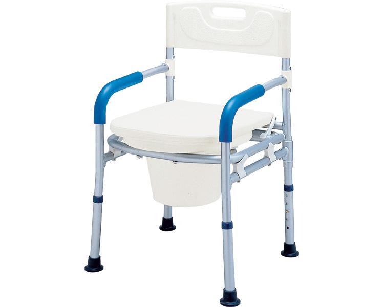 アルミ製ポータブルトイレ すま~いるコンパクト ポータブルトイレチェア FCRTC イーストアイトイレ 介護 在宅介護 コンパクト 折りたたみ 介護用品 福祉用具 すまーいる