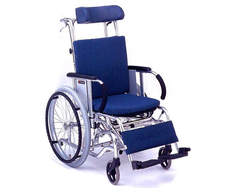 マイチルト車椅子 自走式 MH-1SR ティルト&リクライニングタイプ(転倒防止パイプ付) 松永製作所 【smtb-kd】【介護用品】