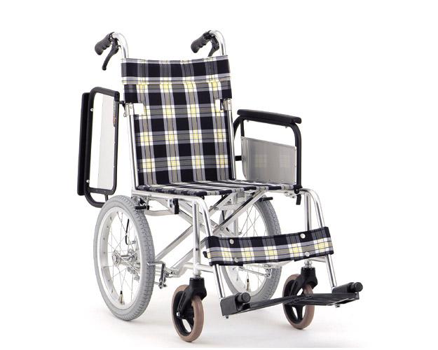 アルミ介助式車椅子 肘跳ね上げタイプ MW-18F (背折りたたみ) 松永製作所 【smtb-kd】【介護用品】