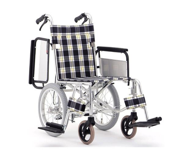 アルミ介助式車椅子 肘跳ね上げ&スイングアウトタイプ MW-22F (背折りたたみ) 松永製作所 【smtb-kd】【介護用品】