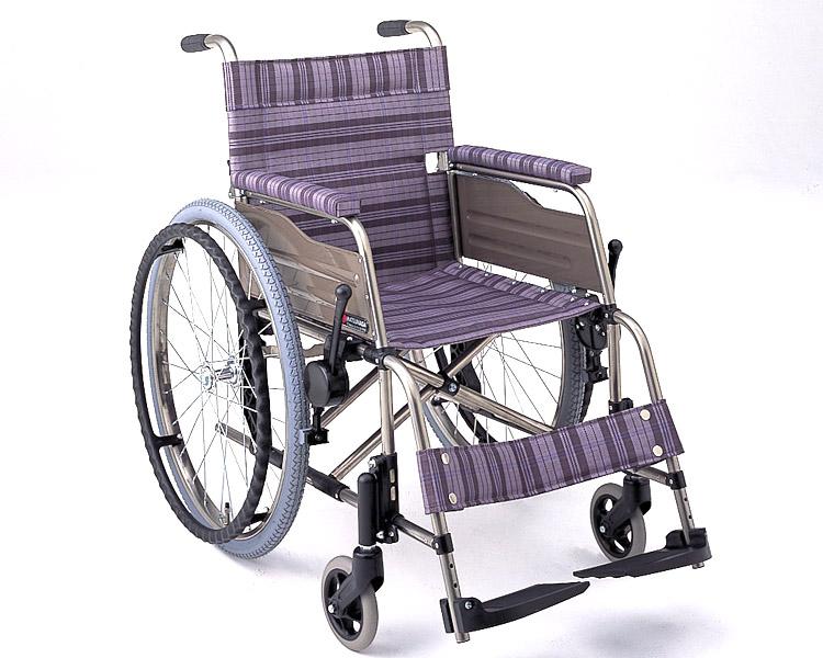 チタン自走式車椅子 F-1 (背折りたたみ) 松永製作所 【smtb-kd】【介護用品】
