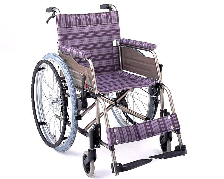 チタン自走式車椅子 F-2 (背折りたたみ) 松永製作所 【smtb-kd】【介護用品】