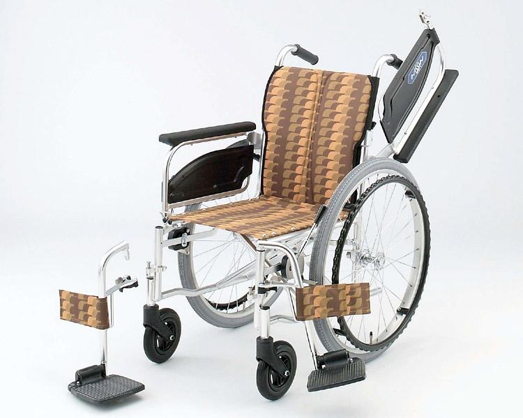 アルミ自走式車椅子 NA-426W アームレスト跳ね上げ脚部開閉着脱 日進医療器 【smtb-kd】【介護用品】