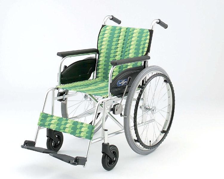 アルミ自走式車椅子 NA-446AS 日進医療器 【smtb-kd】【介護用品】