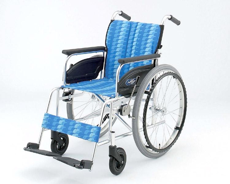 アルミ自走式車椅子 NA-446A 日進医療器 【smtb-kd】【介護用品】