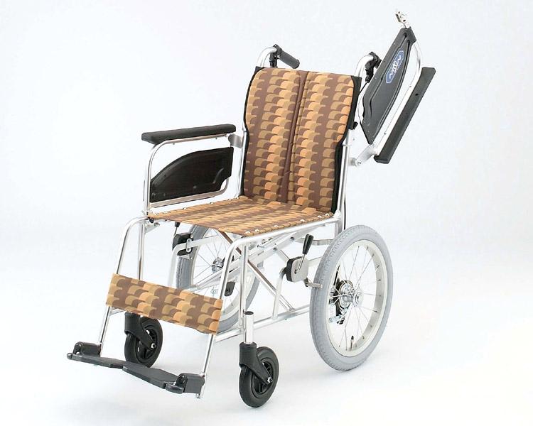 アルミ介助式車椅子 NAH-446U アームレスト跳ね上げ 日進医療器 【smtb-kd】【介護用品】