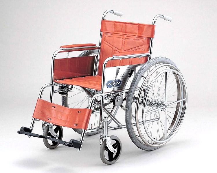 スチール自走式車椅子 ND-19(片マヒの方用) 日進医療器 【smtb-kd】【介護用品】