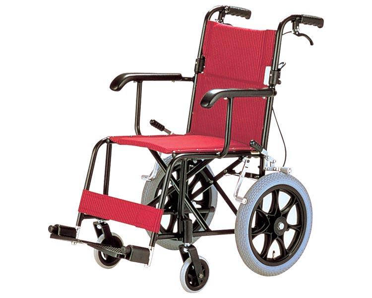 アルミ介助式車椅子 TH-2SB 日進医療器 【smtb-kd】【介護用品】【車いす 車イス】【歩行補助】【アルミ製】