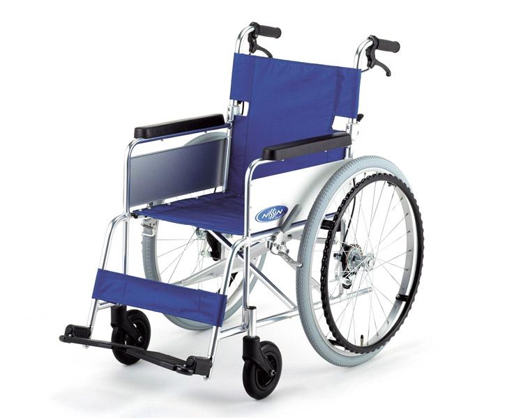 アルミ自走式車椅子 NA-101 B (背折れ・介助ブレーキ付) 日進医療器 【smtb-kd】【介護用品】【歩行補助】【車イス 車いす】