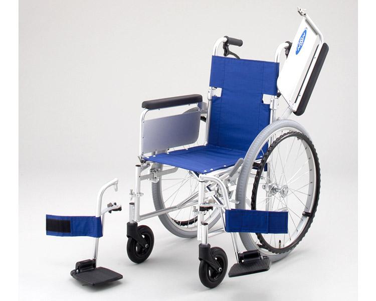 アルミ自走式車椅子 NA-101W B (背折れ・肘跳ね上げ・スイングアウト・介助ブレーキ付) 日進医療器 【smtb-kd】【介護用品】【自走型車いす】【車イス】【歩行補助】