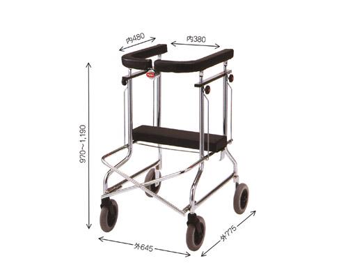 アルコーSH型 ブレーキなし 折りたたみ式歩行器(外出型) 星光医療器製作所 【smtb-kd】【介護用品】