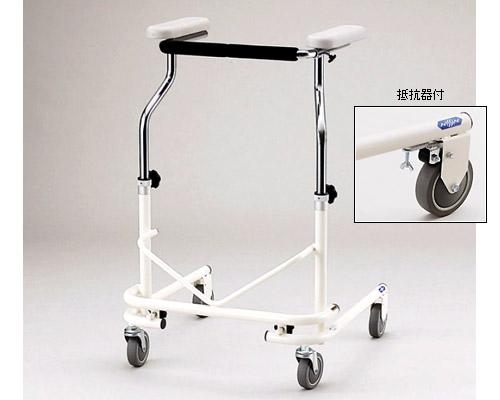 歩行器 ●折りたたみ式歩行器(抵抗器付) NW-21A(後輪固定) 日進医療器介護用品 歩行補助 リハビリ コンパクトサイズ