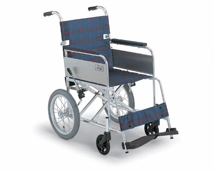 車椅子 軽量 折り畳み アルミ介助式車椅子 MC-43K 超軽量 ミキ 【送料無料】