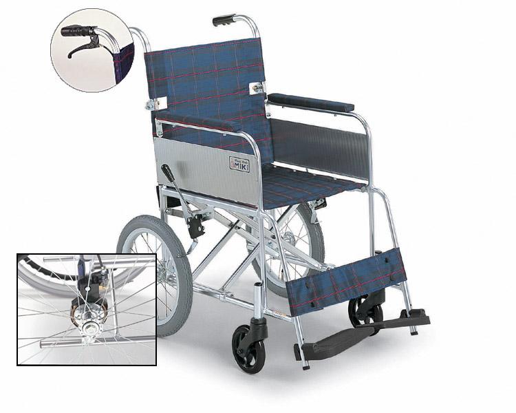 アルミ介助式車椅子 MC-43KDB (介助ブレーキ付) 超軽量 ミキ 【smtb-kd】【介護用品】