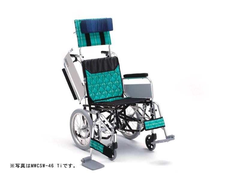 アルミ介助式車椅子 MWCSW-43 Ti (低床型) ティルト・ウイング ミキ 【smtb-kd】【介護用品】