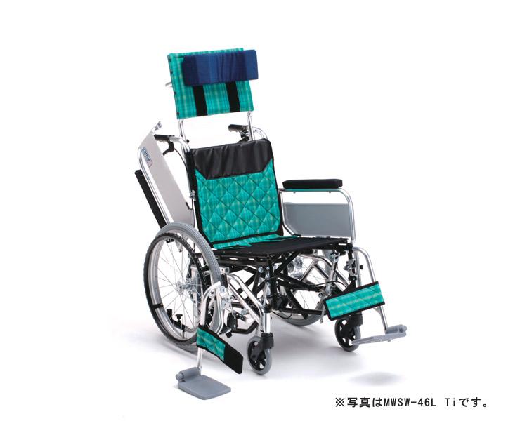 アルミ自走式車椅子 MWSW-43M Ti (低床型) ティルト・ウイング ミキ 【smtb-kd】【介護用品】