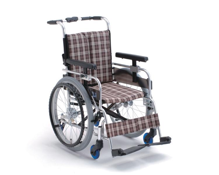 アルミ自走式車椅子 6輪車 MQ-40 ミキ 【smtb-kd】【介護用品】