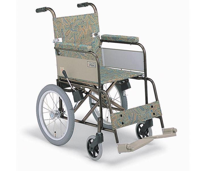 アルミ介助式車椅子 MRC-46B スリム ミキ 【smtb-kd】【介護用品】