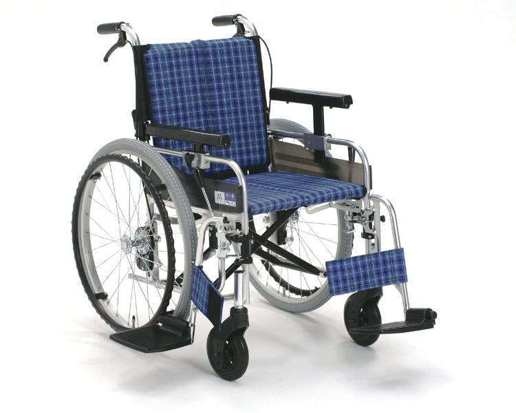 車椅子 アルミ自走式車椅子 MYU226JDSW(μ-3) μシリーズ ミキ車いす 車イス 介護用品