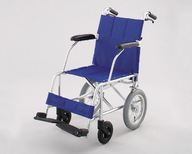 車椅子 軽量 折り畳み アルミ介助式車椅子NAH-209 (背折れ・介助ブレーキ付) 日進医療器 【車椅子 車イス 車いす】【介護用品】【smtb-kd】