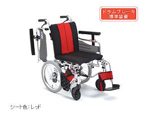 アルミ介助式車椅子 MYU4-16 ミキ 【smtb-kd】【介護用品】