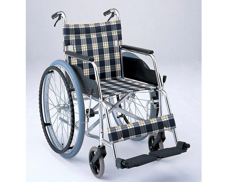 アルミ自走式車椅子 基本タイプ MW-4F (介助ブレーキ付、背折りたたみ) 松永製作所 【smtb-kd】【介護用品】【歩行補助】【自走型車椅子】【車いす 車イス】