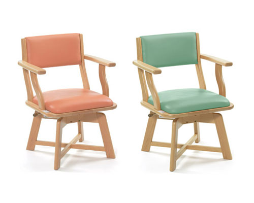 食卓いす ミールターン(回転式タイプ) ML21(ML-21) ピジョンタヒラ介護 いす 福祉用椅子 座面回転 食卓椅子 イス ダイニングチェア 家具 食卓イス