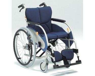 アルミ自走式車椅子 オアシス OS-01 介助ブレーキ付 (背折りたたみ) 松永製作所 【smtb-kd】【介護用品】
