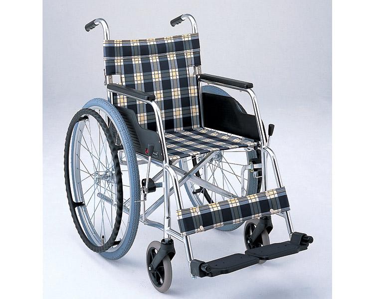 アルミ自走式車椅子 基本タイプ MW-1F (背折りたたみ) ドラム式介助ブレーキ付き 松永製作所 【smtb-kd】【介護用品】
