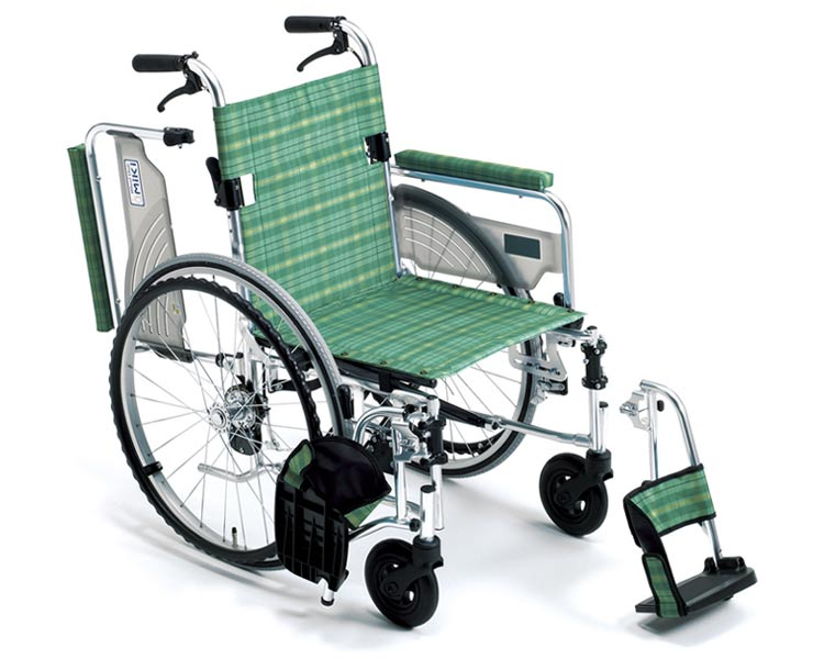 アルミ自走式車椅子 LS-43RD (介助用ブレーキ付) ライトストリーム ミキ 【smtb-kd】【介護用品】