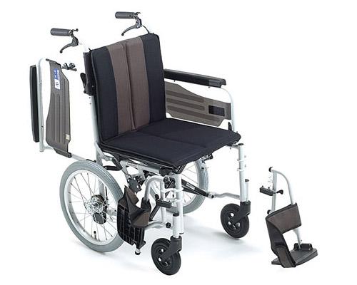 椅子 軽量 折り畳み アルミ介助式車椅子 ウイングスイング MPCWSW-46JDF HG M-1シリーズ ミキ 【介助型車いす 車イス】【歩行補助】【介護用品】【smtb-kd】