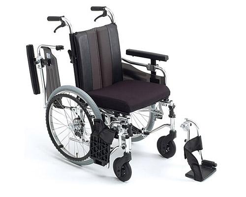 車椅子 アルミ自走式車椅子 MM-Fit Hi 20 ミキ車いす 車イス 自走用 介護用品 ひじ掛け跳ね上げ はね上げ
