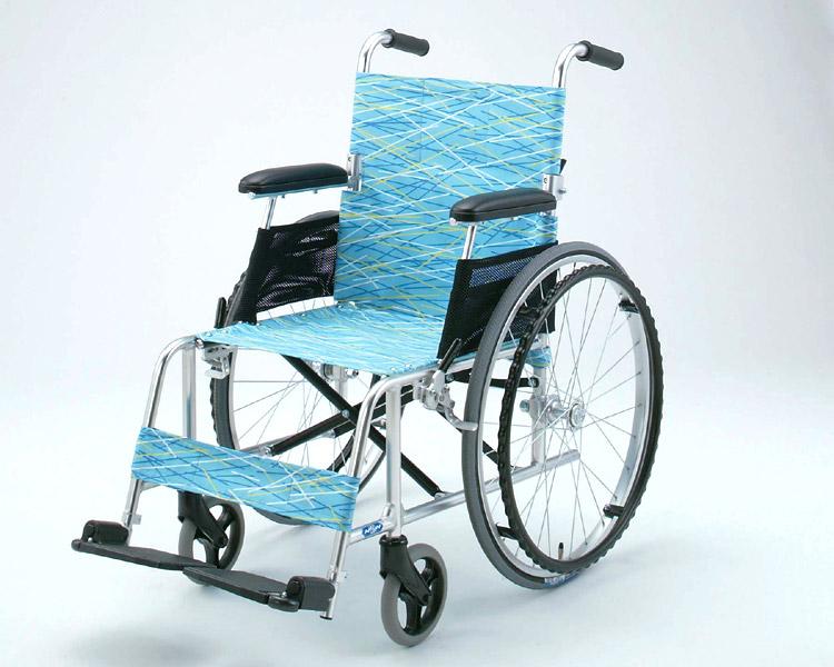 アルミ軽量自走式車椅子 NA-L8 介助ブレーキ付 軽8カルハチ 日進医療器 【車椅子】【軽量】【折り畳み】【smtb-kd】【介護用品】