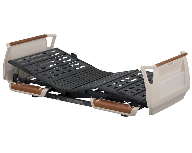 楽匠Sシリーズ(らくらくタイプ) らくらくモーション付き電動ベッド セーフティーラウンドボード(樹脂製・木目調) レギュラータイプ 83cm幅 KQ-9611 パラマウントベッド 【介護用品】