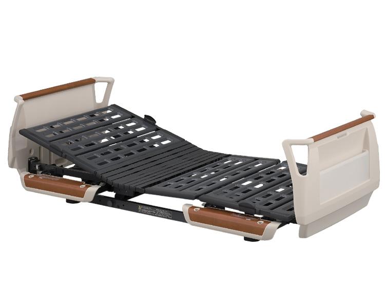 楽匠Sシリーズ 3モーター電動ベッド セーフティーラウンドボード(樹脂製・木目調) レギュラータイプ 91cm幅 KQ-9331 パラマウントベッド 【介護用品】